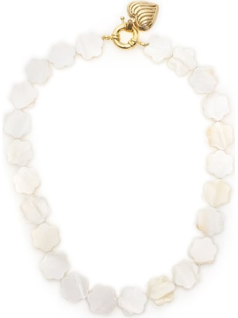 Timeless Pearly Mother-of-pearl Flower Necklace