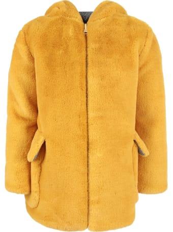 Owa Yurika Yellow ''mille'' Girl Reversible Faux Fur
