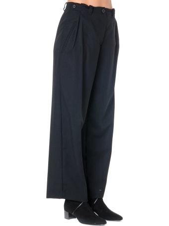 McQ Alexander McQueen Black Large Cotton & Wool Pants