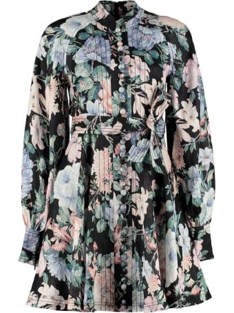 Zimmermann Verity Rouleau Floral Print Dress