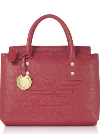 Emporio Armani Signature Eco-leather Tote Bag