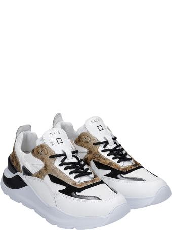D.A.T.E. Fuga Sneakers In White Leather