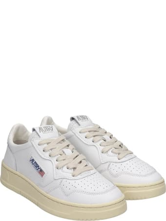 Autry Autry 01 Sneakers In White Leather
