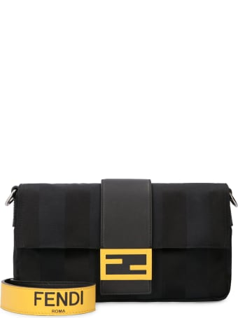 Fendi Baguette Nylon And Leather Bag
