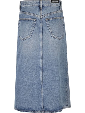 Balenciaga Denim Skirt