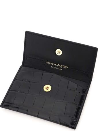 Alexander McQueen Envelope Skull Card Holder Pouch
