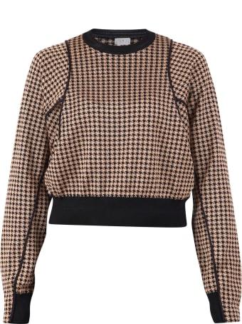 Noir Kei Ninomiya Houndstooth Pattern Sweater