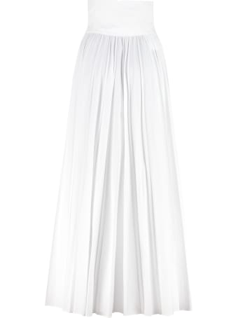 Philosophy di Lorenzo Serafini Belted Cotton Skirt
