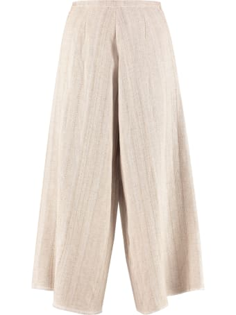 Forte_Forte High-waist Wide-leg Trousers
