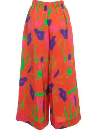 Daniela Gregis Silk Pants Elastic Waist Fantasy