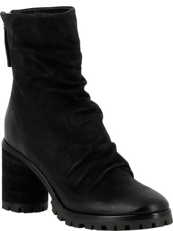 Halmanera Black Leather Ankle Boots