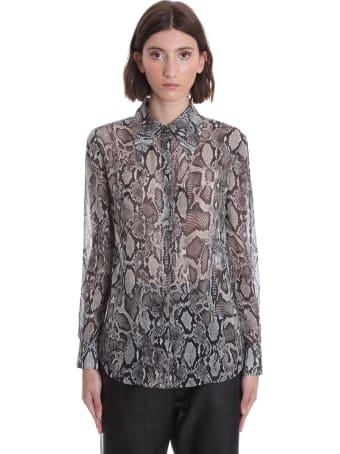 Magda Butrym Naturalny Shirt In Animalier Silk