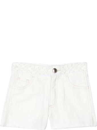 Chloé White Shorts Teen Chloè Kids