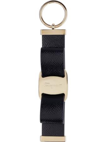 Salvatore Ferragamo Leather Keyring With Logo