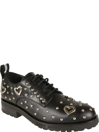 Love Moschino Studded Lace-up Shoes