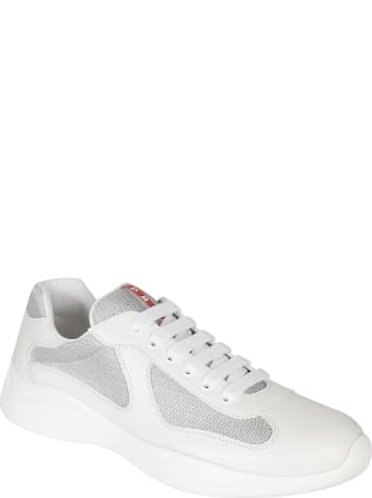 Prada Linea Rossa Logo Tongue Laced-up Sneakers