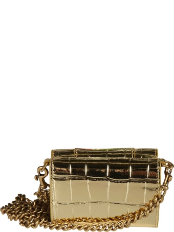Balenciaga Metallic Logo Plaque Chain Shoulder Bag