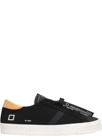 D.A.T.E. Hill Low Sneakers In Black Suede And Leather