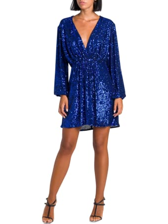 In The Mood For Love Sequined Draped Dress