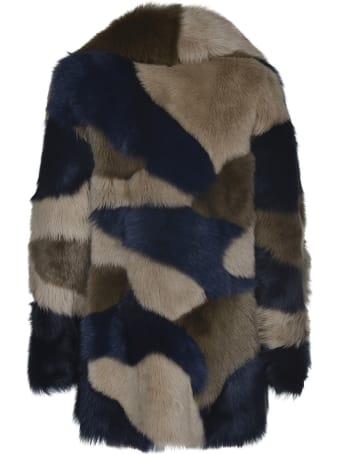 Blancha Fur Applique Coat