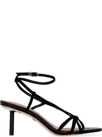 Sam Edelman Pippa Leather And Suede Sandals With Heel