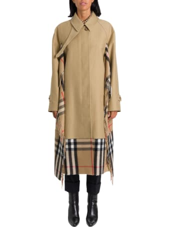Burberry Blanket Detail Cotton Gabardine Coat