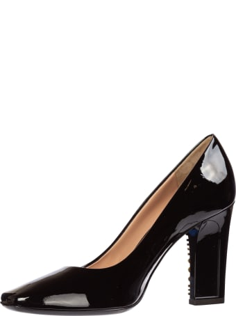 Moschino Women's leather pumps court shoes high heel MA10319C08MB0000 Black