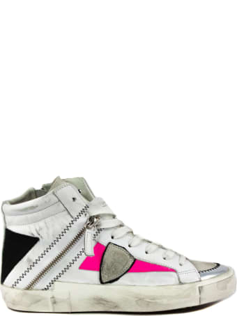 Philippe Model White Leather Bike X Sneakers