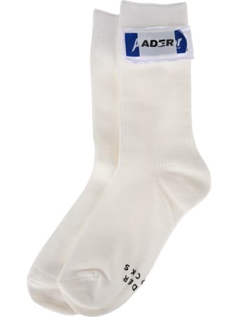 Ader Error Logo Patch Socks