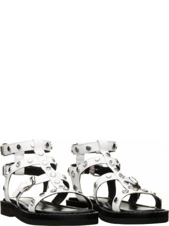 Janet & Janet Janet & Janet Demetra White Sandals