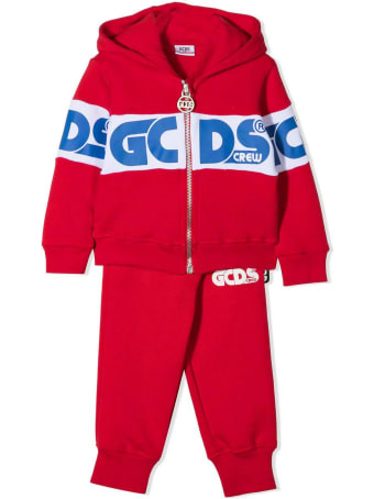 GCDS Red Cotton Logo Tracksuit