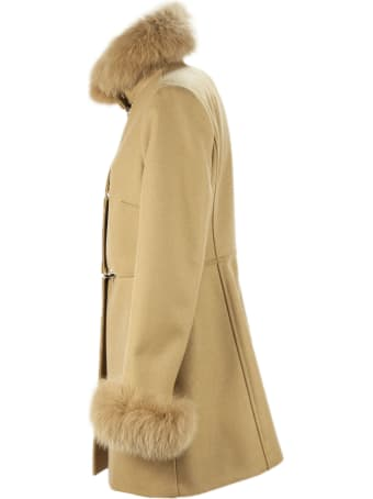 Fay Camel Virgin Wool Coat