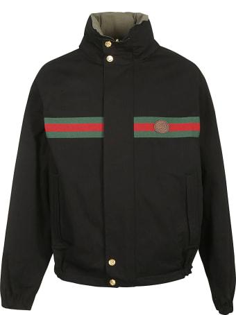 Gucci Signature Web Detail Reversible Jacket