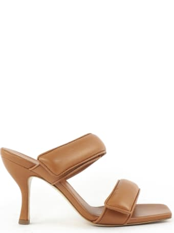 Gia X Pernille Teisbaek Brown Leather Mules Sandals