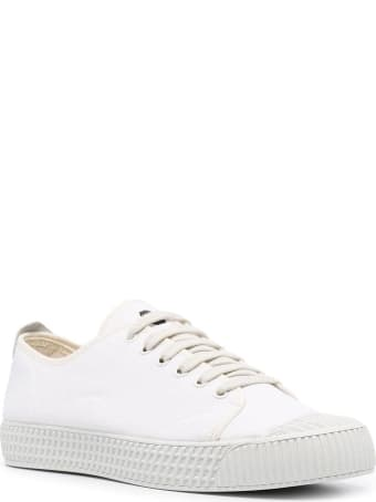 Car Shoe White Cotton Sneakers
