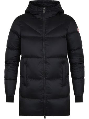 Colmar Black Jacket For Kids With Logo