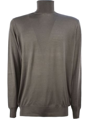 Drumohr Brown Merino Wool Sweater