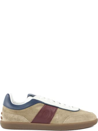 Tod's Sneakers In Brown Suede