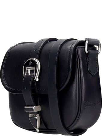 Golden Goose Rodeo Shoulder Bag In Black Leather