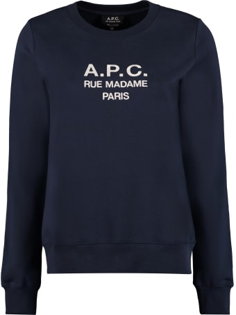 A.P.C. Tina Logo Detail Cotton Sweatshirt
