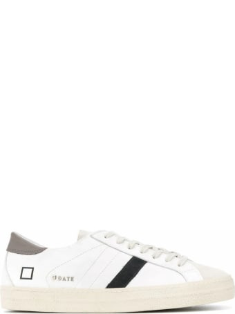 D.A.T.E. White Leather Hill Sneakers