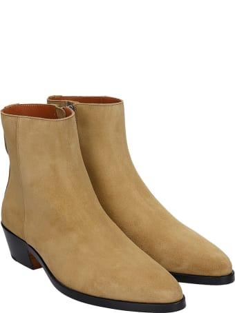 FEAROFGODZEGNA Ankle Boots In Beige Suede