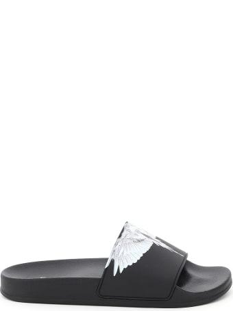 Marcelo Burlon Wings Print Rubber Slides