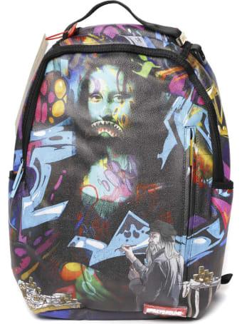 Sprayground Black & Multicolor Printed Backpack