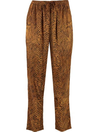 Mes Demoiselles Kung Printed High-rise Trousers