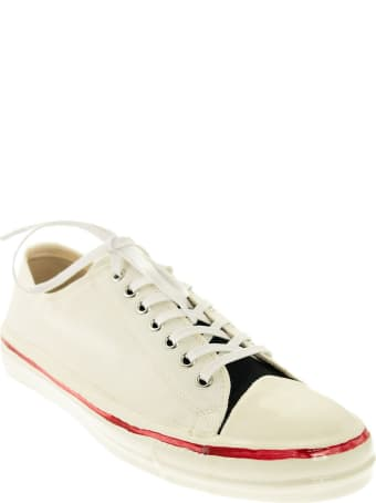 Marni Gooey Low Top Sneakers White With Rubber Casting And Marni Graffiti