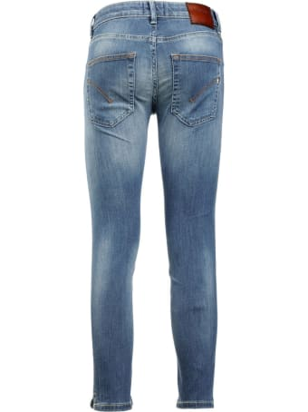 Dondup Blue Cotton-blend Cropped Jeans