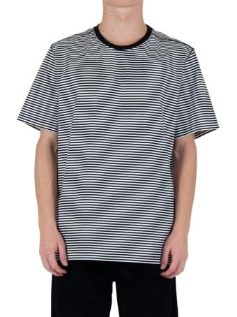 Pop Trading Company Striped Logo T-shirt - Black/white
