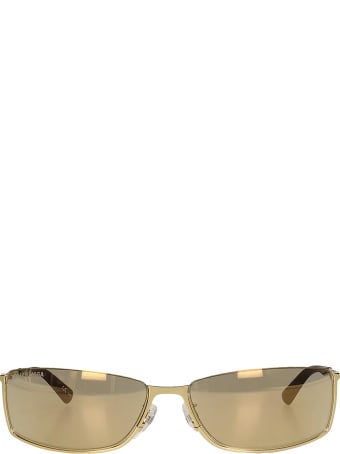 Balenciaga Sunglasses In Gold Metal Alloy