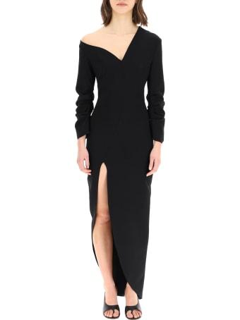 A.W.A.K.E. Mode Asymmetric Dress In Crepe Jersey